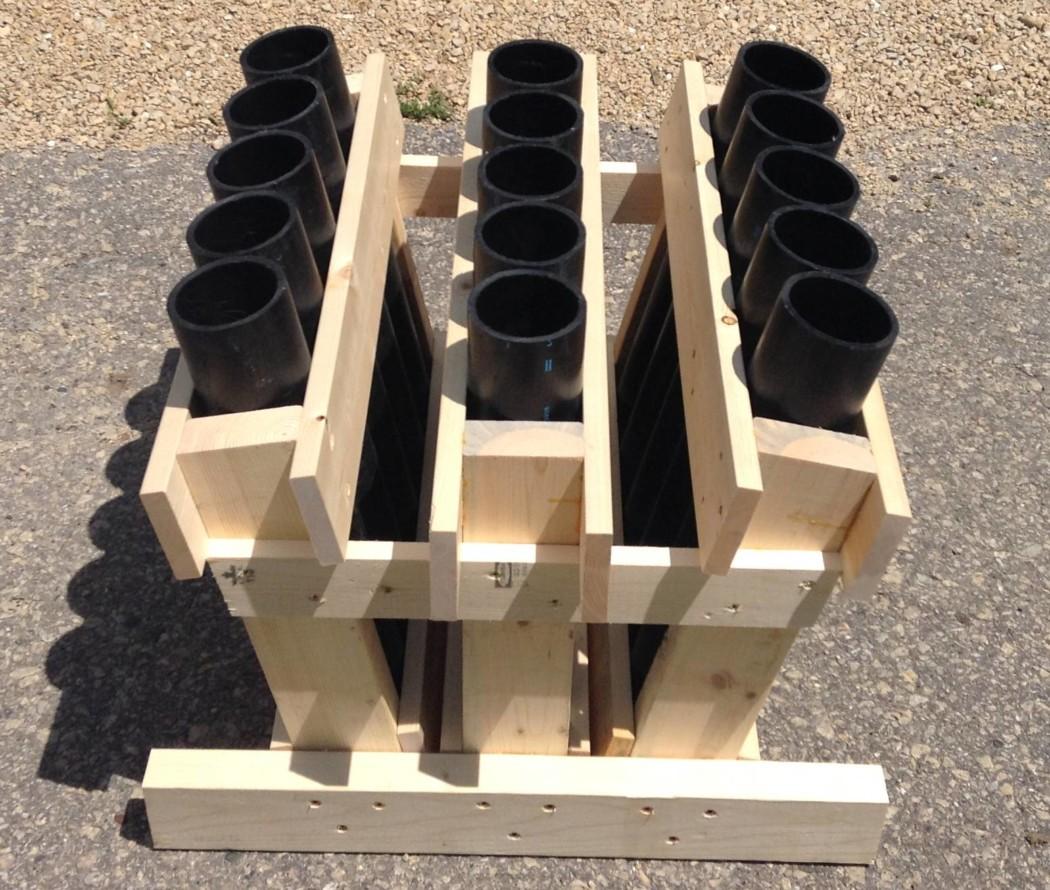 hdpe-3-inch-15-shot-angle-rack